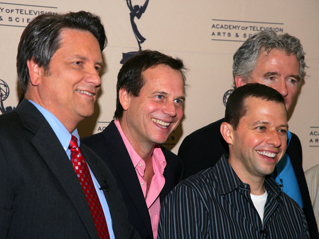 Left to right: Jim Longworth, Bill Paxton, Jon Cryer, Patrick Duffy