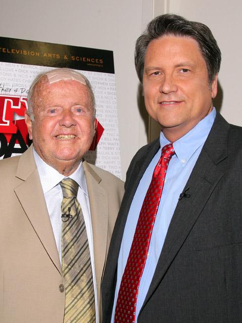 Dick Van Patten with Jim Longworth in June, 2009